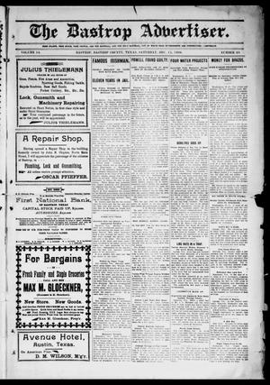 Primary view of object titled 'The Bastrop Advertiser (Bastrop, Tex.), Vol. 54, No. 38, Ed. 1 Saturday, December 15, 1906'.