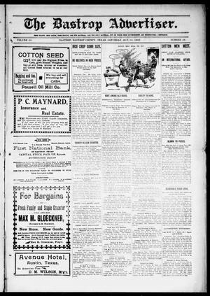 Primary view of object titled 'The Bastrop Advertiser (Bastrop, Tex.), Vol. 55, No. 28, Ed. 1 Saturday, October 12, 1907'.