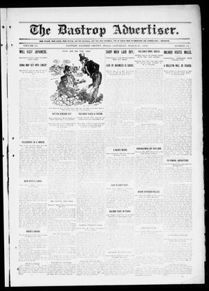 Primary view of object titled 'The Bastrop Advertiser (Bastrop, Tex.), Vol. 55, No. 51, Ed. 1 Saturday, March 28, 1908'.