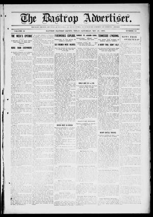 Primary view of object titled 'The Bastrop Advertiser (Bastrop, Tex.), Vol. 56, No. 34, Ed. 1 Saturday, November 28, 1908'.
