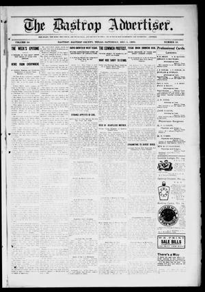 Primary view of object titled 'The Bastrop Advertiser (Bastrop, Tex.), Vol. 56, No. 35, Ed. 1 Saturday, December 5, 1908'.