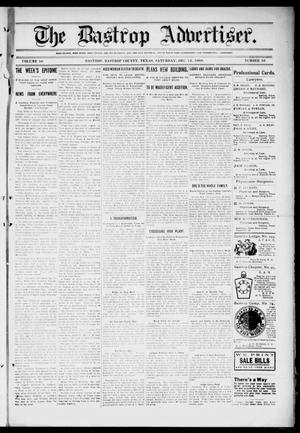Primary view of object titled 'The Bastrop Advertiser (Bastrop, Tex.), Vol. 56, No. 36, Ed. 1 Saturday, December 12, 1908'.