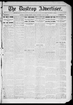Primary view of object titled 'The Bastrop Advertiser (Bastrop, Tex.), Vol. 56, No. 38, Ed. 1 Saturday, December 26, 1908'.