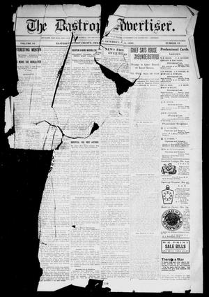 Primary view of object titled 'The Bastrop Advertiser (Bastrop, Tex.), Vol. 56, No. 39, Ed. 1 Saturday, January 9, 1909'.