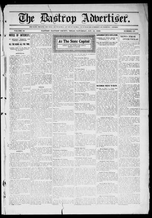 Primary view of object titled 'The Bastrop Advertiser (Bastrop, Tex.), Vol. 56, No. 40, Ed. 1 Saturday, January 16, 1909'.