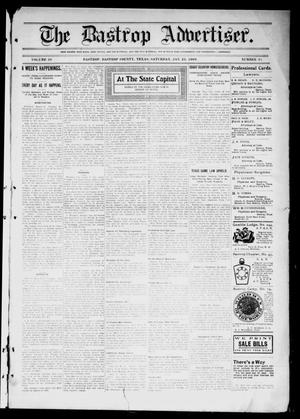 Primary view of object titled 'The Bastrop Advertiser (Bastrop, Tex.), Vol. 56, No. 41, Ed. 1 Saturday, January 23, 1909'.