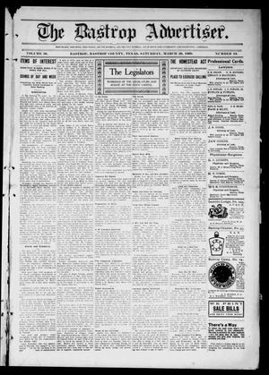 Primary view of object titled 'The Bastrop Advertiser (Bastrop, Tex.), Vol. 56, No. 49, Ed. 1 Saturday, March 20, 1909'.