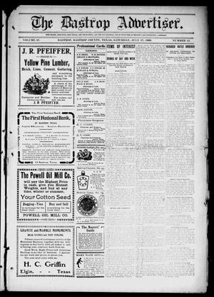 Primary view of object titled 'The Bastrop Advertiser (Bastrop, Tex.), Vol. 57, No. 14, Ed. 1 Saturday, July 17, 1909'.