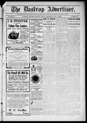 Primary view of object titled 'The Bastrop Advertiser (Bastrop, Tex.), Vol. 57, No. 18, Ed. 1 Saturday, August 14, 1909'.