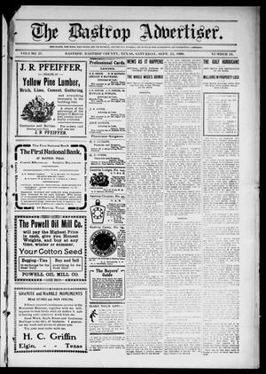 Primary view of object titled 'The Bastrop Advertiser (Bastrop, Tex.), Vol. 57, No. 24, Ed. 1 Saturday, September 25, 1909'.
