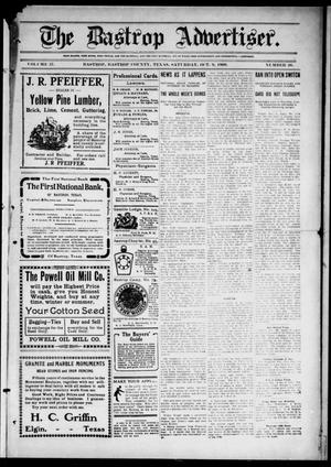 Primary view of object titled 'The Bastrop Advertiser (Bastrop, Tex.), Vol. 57, No. 26, Ed. 1 Saturday, October 9, 1909'.
