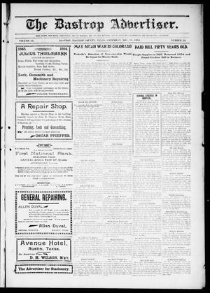 Primary view of object titled 'The Bastrop Advertiser (Bastrop, Tex.), Vol. 52, No. 36, Ed. 1 Saturday, November 19, 1904'.