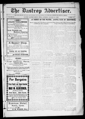 Primary view of object titled 'The Bastrop Advertiser (Bastrop, Tex.), Vol. 53, No. 44, Ed. 1 Saturday, January 27, 1906'.
