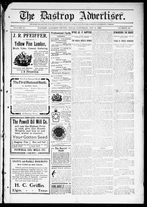 Primary view of object titled 'The Bastrop Advertiser (Bastrop, Tex.), Vol. 57, No. 30, Ed. 1 Saturday, November 6, 1909'.