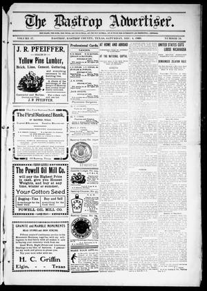 Primary view of object titled 'The Bastrop Advertiser (Bastrop, Tex.), Vol. 57, No. 34, Ed. 1 Saturday, December 4, 1909'.