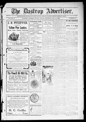 Primary view of object titled 'The Bastrop Advertiser (Bastrop, Tex.), Vol. 57, No. 37, Ed. 1 Saturday, December 25, 1909'.