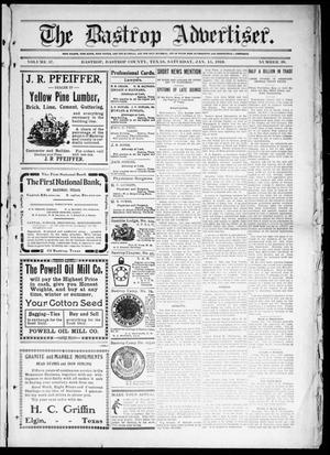 Primary view of object titled 'The Bastrop Advertiser (Bastrop, Tex.), Vol. 57, No. 39, Ed. 1 Saturday, January 15, 1910'.