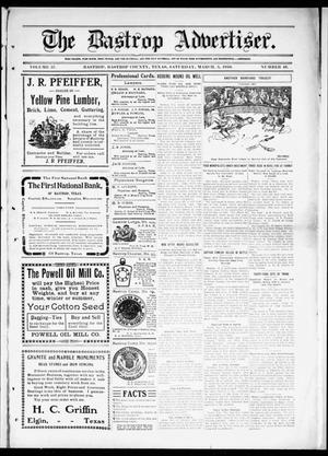 Primary view of object titled 'The Bastrop Advertiser (Bastrop, Tex.), Vol. 57, No. 46, Ed. 1 Saturday, March 5, 1910'.