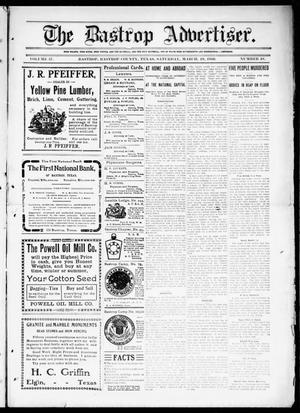 Primary view of object titled 'The Bastrop Advertiser (Bastrop, Tex.), Vol. 57, No. 48, Ed. 1 Saturday, March 19, 1910'.