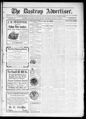 Primary view of object titled 'The Bastrop Advertiser (Bastrop, Tex.), Vol. 57, No. 47, Ed. 1 Saturday, March 12, 1910'.