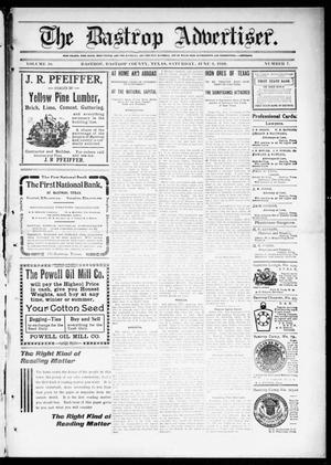 Primary view of object titled 'The Bastrop Advertiser (Bastrop, Tex.), Vol. 58, No. 7, Ed. 1 Saturday, June 4, 1910'.
