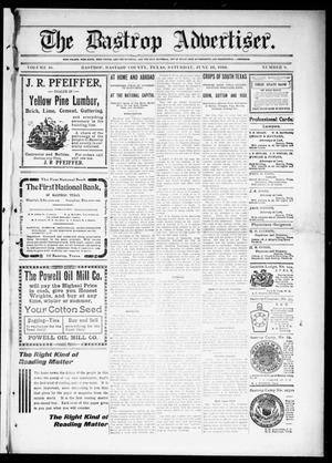 Primary view of object titled 'The Bastrop Advertiser (Bastrop, Tex.), Vol. 58, No. 8, Ed. 1 Saturday, June 11, 1910'.