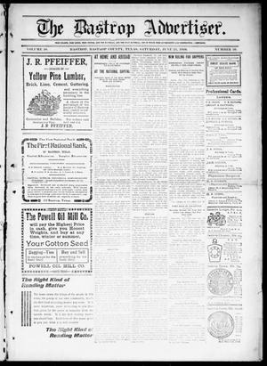 Primary view of object titled 'The Bastrop Advertiser (Bastrop, Tex.), Vol. 58, No. 10, Ed. 1 Saturday, June 25, 1910'.