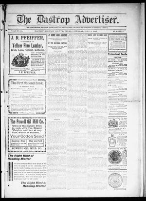Primary view of object titled 'The Bastrop Advertiser (Bastrop, Tex.), Vol. 58, No. 11, Ed. 1 Saturday, July 2, 1910'.