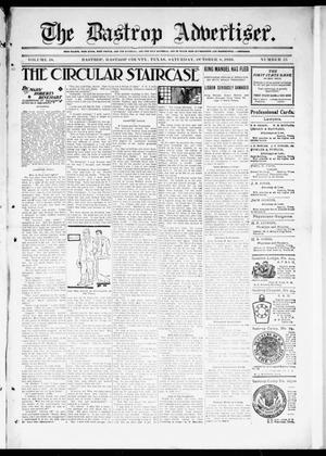 Primary view of object titled 'The Bastrop Advertiser (Bastrop, Tex.), Vol. 58, No. 25, Ed. 1 Saturday, October 8, 1910'.