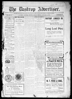 Primary view of object titled 'The Bastrop Advertiser (Bastrop, Tex.), Vol. 58, No. 38, Ed. 1 Friday, January 6, 1911'.