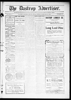 Primary view of object titled 'The Bastrop Advertiser (Bastrop, Tex.), Vol. 58, No. 44, Ed. 1 Friday, February 17, 1911'.