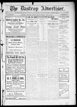 Primary view of object titled 'The Bastrop Advertiser (Bastrop, Tex.), Vol. 60, No. 36, Ed. 1 Friday, December 20, 1912'.