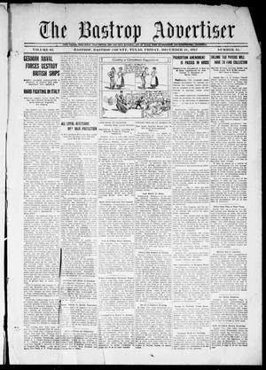 Primary view of object titled 'The Bastrop Advertiser (Bastrop, Tex.), Vol. 65, No. 35, Ed. 1 Friday, December 21, 1917'.