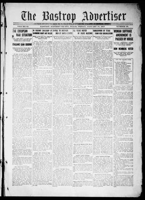 Primary view of object titled 'The Bastrop Advertiser (Bastrop, Tex.), Vol. 65, No. 39, Ed. 1 Friday, January 18, 1918'.