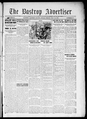 Primary view of object titled 'The Bastrop Advertiser (Bastrop, Tex.), Vol. 65, No. 47, Ed. 1 Friday, May 10, 1918'.