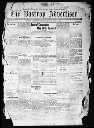 Primary view of object titled 'The Bastrop Advertiser (Bastrop, Tex.), Vol. 67, No. 39, Ed. 1 Thursday, April 29, 1920'.