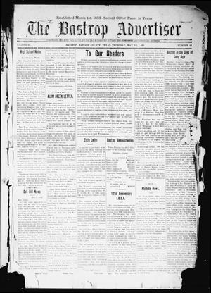Primary view of The Bastrop Advertiser (Bastrop, Tex.), Vol. 67, No. 41, Ed. 1 Thursday, May 13, 1920