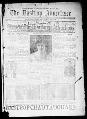Primary view of object titled 'The Bastrop Advertiser (Bastrop, Tex.), Vol. 67, No. 42, Ed. 1 Thursday, May 20, 1920'.
