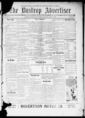 Primary view of object titled 'The Bastrop Advertiser (Bastrop, Tex.), Vol. 67, No. 43, Ed. 1 Thursday, May 27, 1920'.