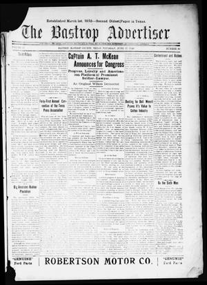Primary view of object titled 'The Bastrop Advertiser (Bastrop, Tex.), Vol. 67, No. 46, Ed. 1 Thursday, June 17, 1920'.