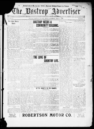 Primary view of object titled 'The Bastrop Advertiser (Bastrop, Tex.), Vol. 67, No. 48, Ed. 1 Thursday, July 1, 1920'.