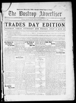 Primary view of object titled 'The Bastrop Advertiser (Bastrop, Tex.), Vol. 67, No. 49, Ed. 1 Thursday, July 8, 1920'.