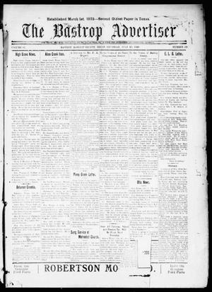Primary view of object titled 'The Bastrop Advertiser (Bastrop, Tex.), Vol. 67, No. 50, Ed. 1 Thursday, July 15, 1920'.