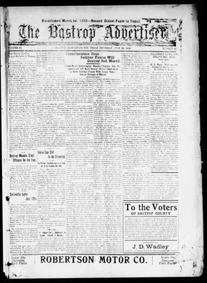 Primary view of object titled 'The Bastrop Advertiser (Bastrop, Tex.), Vol. 67, No. 51, Ed. 1 Thursday, July 22, 1920'.