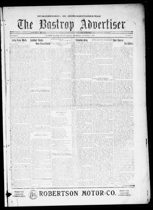 Primary view of object titled 'The Bastrop Advertiser (Bastrop, Tex.), Vol. 68, No. 7, Ed. 1 Thursday, September 16, 1920'.