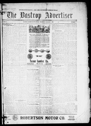 Primary view of object titled 'The Bastrop Advertiser (Bastrop, Tex.), Vol. 68, No. 18, Ed. 1 Thursday, December 2, 1920'.