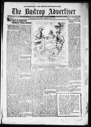 Primary view of object titled 'The Bastrop Advertiser (Bastrop, Tex.), Vol. 68, No. 39, Ed. 1 Thursday, April 28, 1921'.