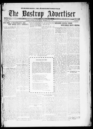 Primary view of object titled 'The Bastrop Advertiser (Bastrop, Tex.), Vol. 68, No. 40, Ed. 1 Thursday, May 5, 1921'.