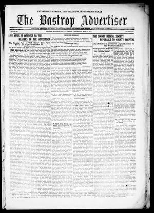 Primary view of object titled 'The Bastrop Advertiser (Bastrop, Tex.), Vol. 68, No. 41, Ed. 1 Thursday, May 12, 1921'.