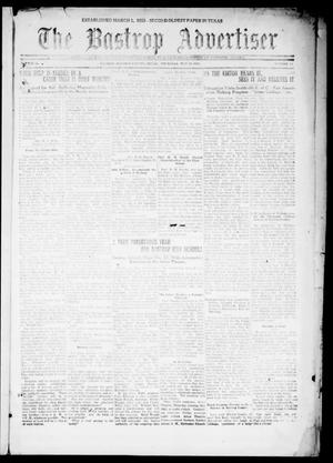 Primary view of object titled 'The Bastrop Advertiser (Bastrop, Tex.), Vol. 68, No. 42, Ed. 1 Thursday, May 19, 1921'.